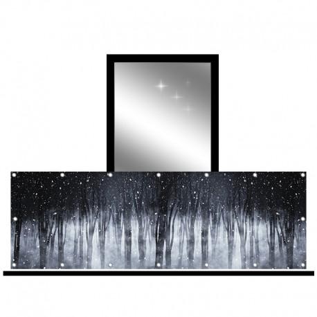 Osłona balkonowa jednostronna - Zimowy las