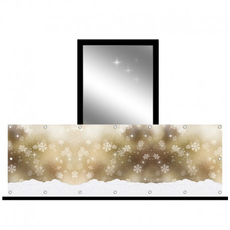 Osłona balkonowa jednostronna -  Złoty śnieg