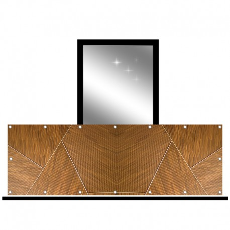 Osłona balkonowa jednostronna - Listewski