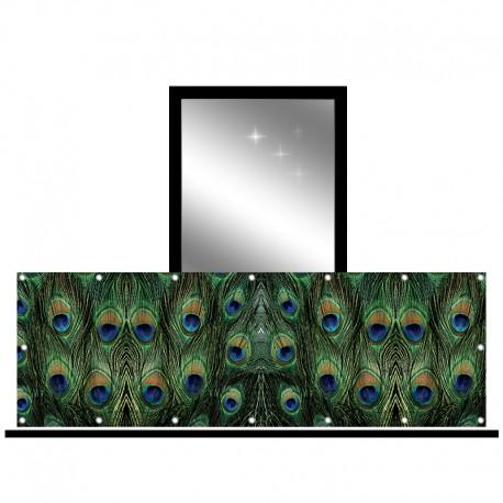 Osłona balkonowa jednostronna - Pawie oko