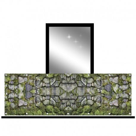 Osłona balkonowa jednostronna - Mech na kamieniach