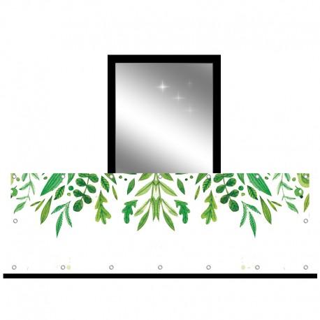 Osłona balkonowa jednostronna -  Malowane liście