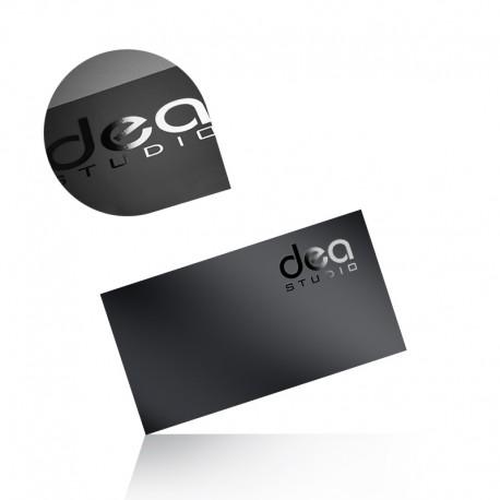 Wizytówki jednostronne folia mat + lakier wybiórczy UV 90x50mm