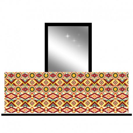 Osłona balkonowa siatka - kalejdoskop