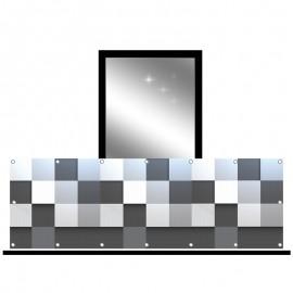 Osłona balkonowa siatka - abstrakcja kostka