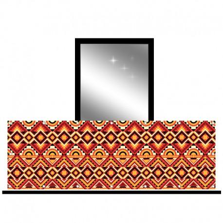 Osłona balkonowa siatka - Boho