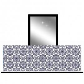 Osłona balkonowa siatka - Czarny ornament