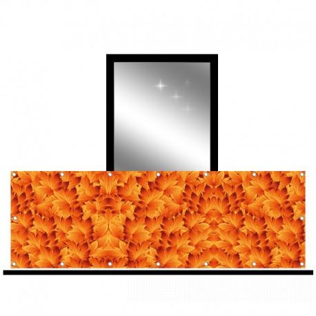 Osłona balkonowa siatka - Pomarańczowe liście