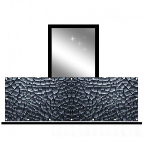 Osłona balkonowa siatka - Popękany kamień