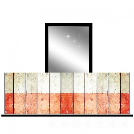 Osłona balkonowa siatka - Deski malowane
