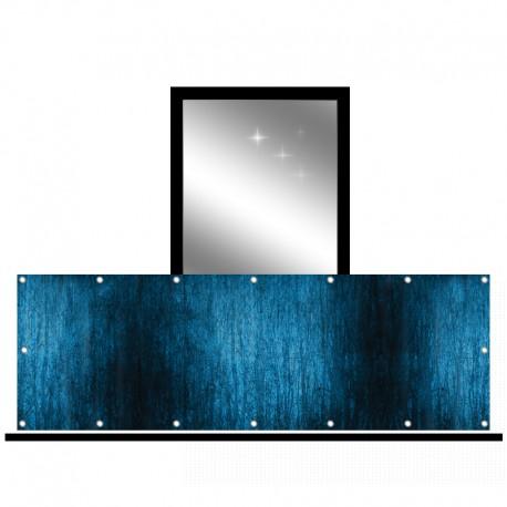 Osłona balkonowa siatka - Zimowy cień