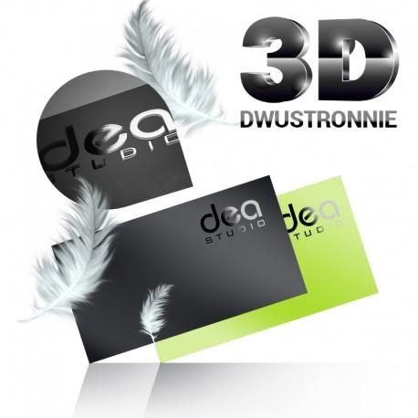 Wizytówki dwustronne lakier wybiórczy UV 3D dwustronnie + folia soft touch - aksamitna