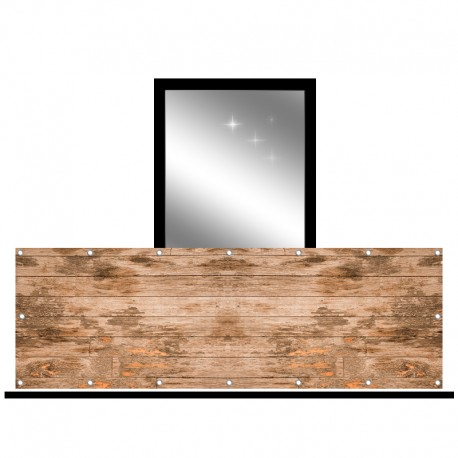 Osłona balkonowa jednostronna - Przecierane drewno