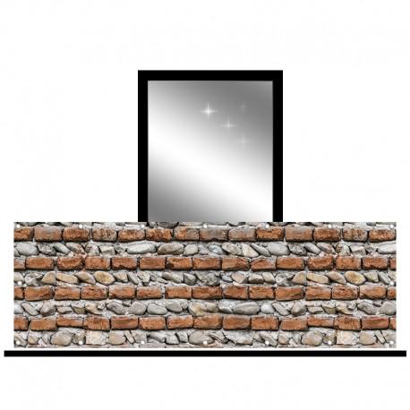 Osłona balkonowa jednostronna - Cegła i kamień