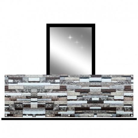 Osłona balkonowa jednostronna - Kamień dekoracyjny
