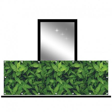 Osłona balkonowa jednostronna - Zielone liście