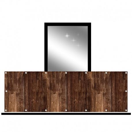Osłona balkonowa jednostronna - Deski wenge