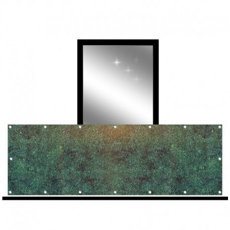 Osłona balkonowa jednostronna - Gęsta trawa