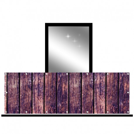 Osłona balkonowa jednostronna - Fioletowe deski