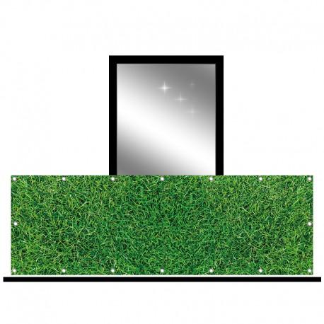Osłona balkonowa jednostronna - Ciemna trawa
