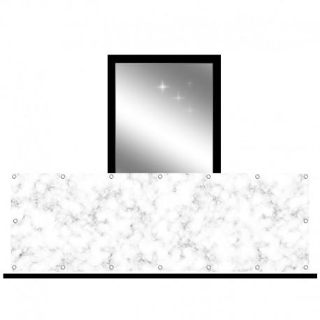 Osłona balkonowa jednostronna - Szary marmur
