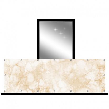 Osłona balkonowa jednostronna - Beżowy marmur