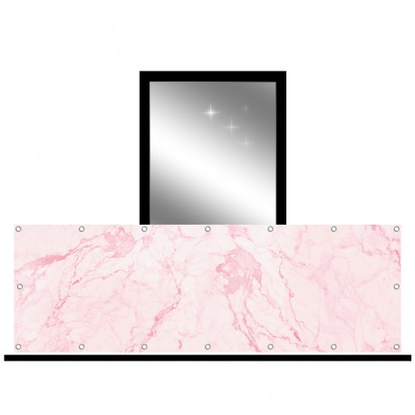 Osłona balkonowa jednostronna - Różowy marmur
