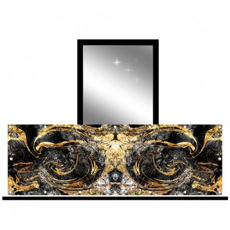 Osłona balkonowa jednostronna - Marmur ze złotem
