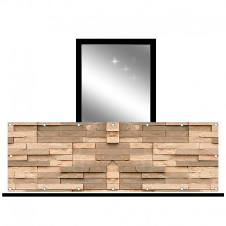 Osłona balkonowa jednostronna - Brązowy kamień dekoracyjny