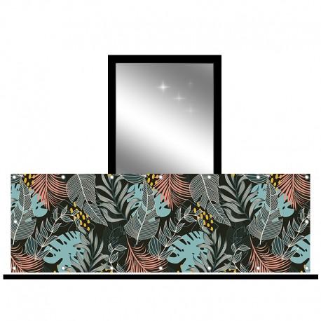 Osłona balkonowa jednostronna - Egzotyczne liście