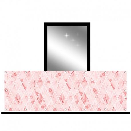 Osłona balkonowa jednostronna - Romby z marmuru