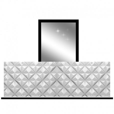 Osłona balkonowa jednostronna - Trójkąty 3D