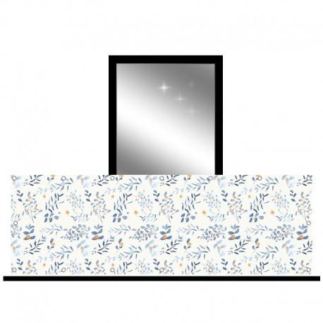 Osłona balkonowa jednostronna - Akwarelowe liście