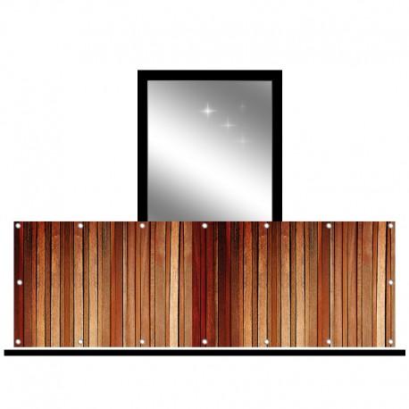 Osłona balkonowa jednostronna - Cienkie deski