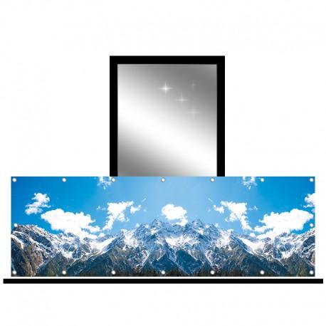 Osłona balkonowa jednostronna - Niebo w górach