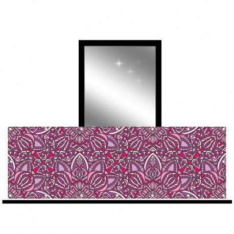 Osłona balkonowa jednostronna - Fioletowa abstrakcja