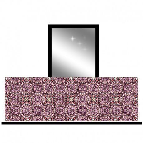 Osłona balkonowa jednostronna - Tkany wzór