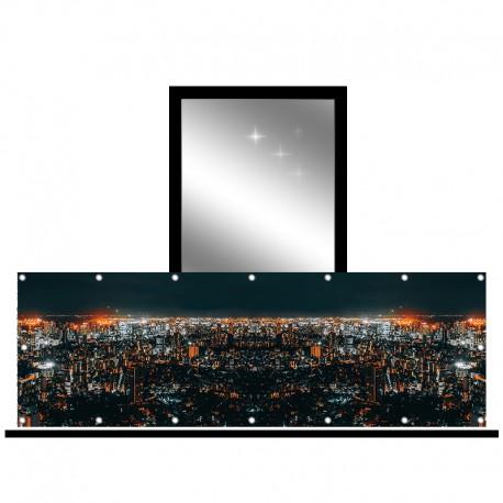 Osłona balkonowa jednostronna - Miasto nocą