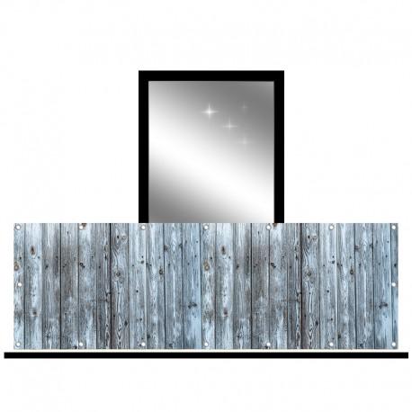 Osłona balkonowa jednostronna - Błękitne deski