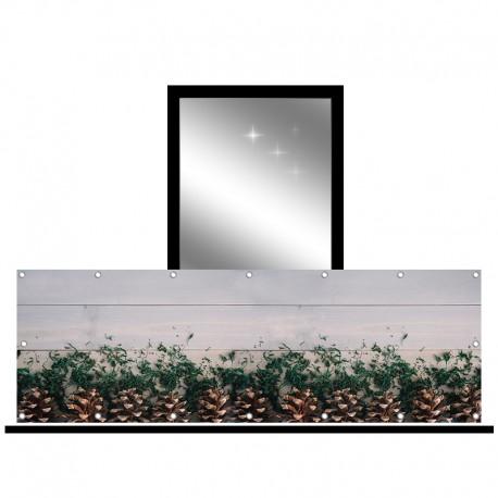Osłona balkonowa jednostronna - Szare deski