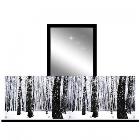 Osłona balkonowa jednostronna - Śnieżny las