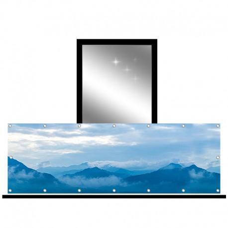 Osłona balkonowa jednostronna - Góry w chmurach