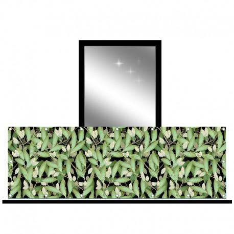Osłona balkonowa jednostronna - Drobne listki