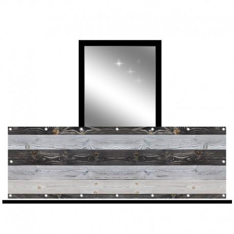 Osłona balkonowa jednostronna - Deski w szarościach