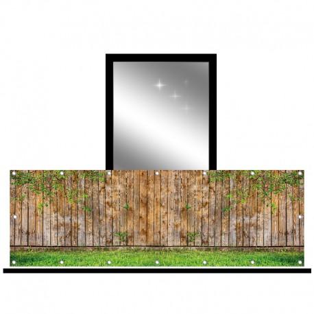 Osłona balkonowa jednostronna - Płot z desek
