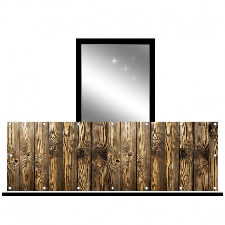 Osłona balkonowa jednostronna - Ciemne dechy