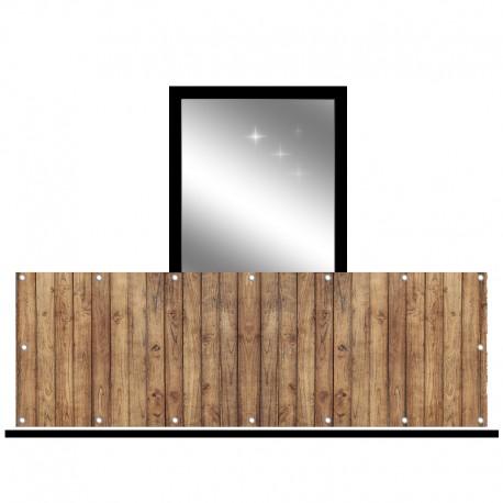 Osłona balkonowa jednostronna - Brązowe deski