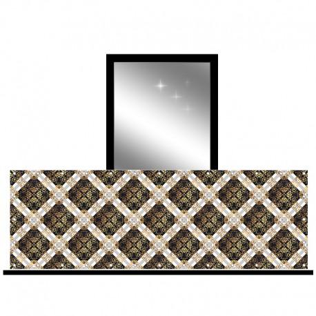 Osłona balkonowa jednostronna - Złote wzory