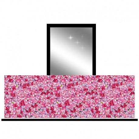 Osłona balkonowa jednostronna - Różowe róże