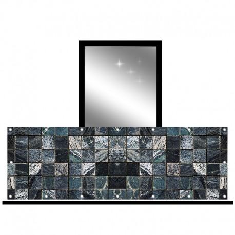 Osłona balkonowa jednostronna - Granitowa mozaika